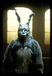 Honestly I Was About To Post A Picture Of Heidi Montag Because She Is Scary To Me LOL But, I Decided To Post Something From A Movie! This Is The Donnie Darko Rabbit! It Totatally Freaked Me Out When I Saw It In The Movie! I Thought I Was Gonna Have Nightmares!