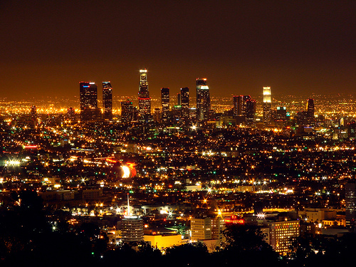Los Angeles, California. This view looks oddly familiar. Too bad there is no view of Universal Studios, though. That's my favorito! place in all of Southern California.