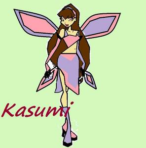 Name:Kasumi (Kah-soo-me) Age:21 Power:Transforms into a Light गुलाबी भेड़िया Special Attacks:Tail whip,Multi Bite,HowlScream,and Paw storm Home-Planet:Furrganet (beings on the planet transform into animals) Status:The Princess's sister. Bio:Kasumi is a very happy, bubbly person. She is very caring but can be a bit clumsy. She loves making फ्रेंड्स and making animal sulptures out of clay.