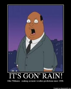 Ollie Williams- making accurate weather predictions since 1998