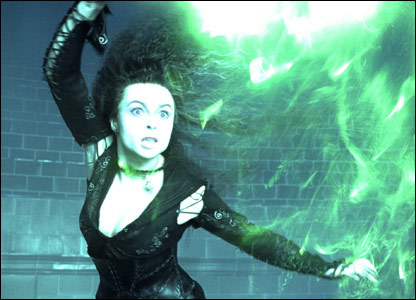 """Alright, so i was practiceing my spells and i turned Bellatrix into a chiken. It just so happens she had a makan malam tanggal with Volmort so I had to turn her back (because, yes she is my faveirote character) only prblemwas Ron was in the mood for fried chiken for dinner. As i was fiannly about to turn her back Ron chikennapped her. Then Voldmort arrived, i told him Harry wanted to have a teh party with him, while he was distracted i ran off oleh Ron. I got Bellatrix back and turned her back to normal. She freaked out on me and screamed """"HOW DARE anda TURN ME INTO A CHIKEN BEFORE MY tanggal WITH VOLDMORT"""" I told her it was an accident. And then she adavera kedevared me. Then I got a vision of her tanggal with Voladmortlets just say it went well and they decided to get married."""