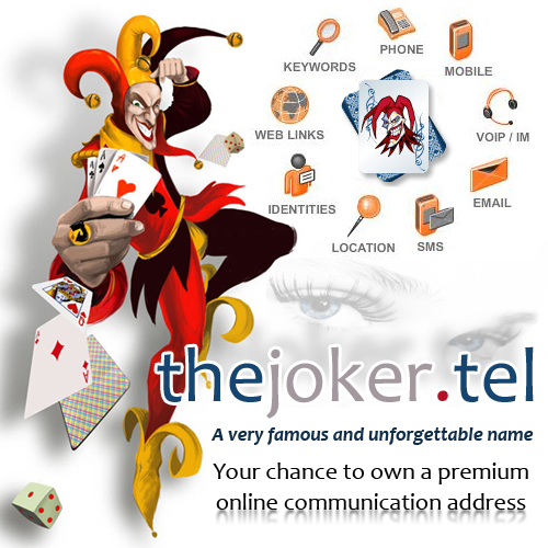 Is anyone interested in owning my domain name thejoker I have it up on ebay check it out look whos selling a famous name http://tinyurl.com/MarksEbayStuff