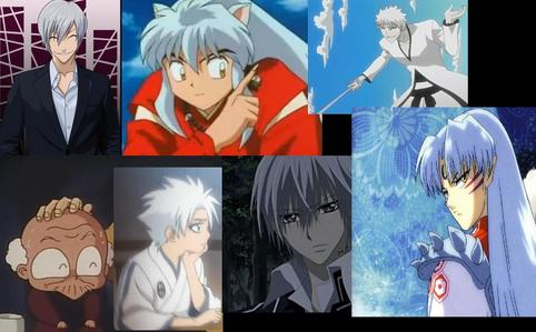 Inuyasha~Inuyasha Zero~Vampire Knight Captain Hitsugaya.~Bleach Ichimaru Gin~Bleach Sesshomaru~Inuyasha Happosai~Ranma 1/2 Cologne~Ranma 1/2 Ichigo's Hollow~Bleach :3