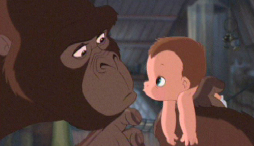 Isn't baby Tarzan adorable?