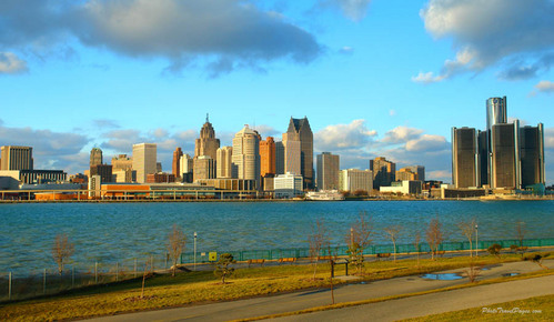 I live in a suburb of Detroit, so here's Detroit.