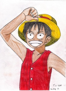 i draw anime fanarts all the time, here my latest: Luffy from one piece