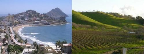 I use to live like in the first picture near the playa but then I mover to Central California like the 2nd pic and that's where I live now!! where there's más fields than houses! :P