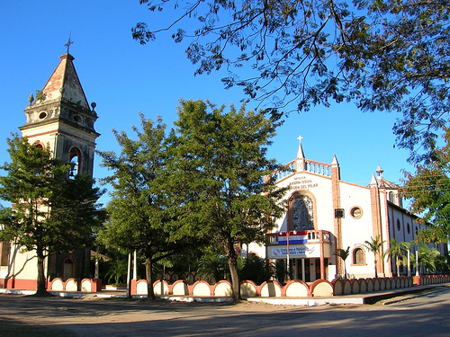 I live in South America, in a small country. Here's a pic of the church of my town. Sorry, i couldn't find another pretty pic, it's a humble town, so there u go.