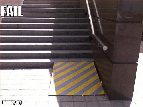 Handicap ramp for one step x3