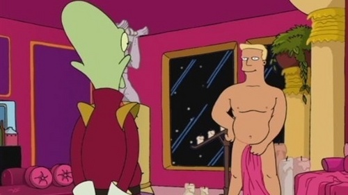 Zapp Brannigan, for the world. He is HILARIOUS, and in the perverted way too. That's why he's so awesome! :D