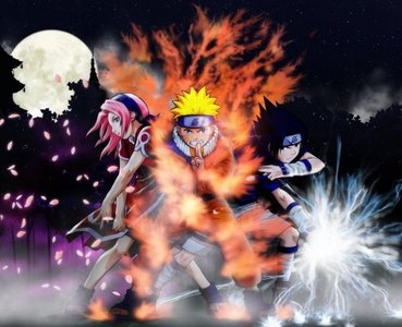 they are bleach,and black cat, and there naruto i got a naruto picture see.