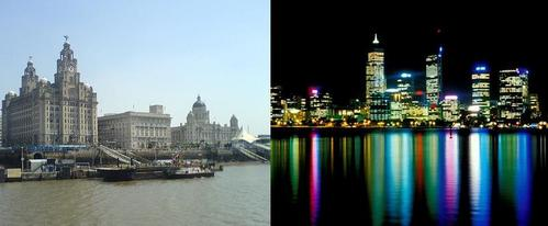 Left hand pic is where I used to live - Liverpool, England. Then I moved to Perth, Australia 5 years hace (right hand pic) =)