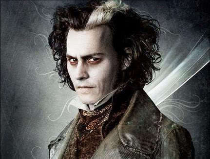 hmmmmmm, Sweeney Todd!!! he can slit my throat any day!!! lol, jk! i don't really have a crush on Johnny. true, he is attractive. but im a shabiki of him for his uigizaji skills and movies. not really his looks.