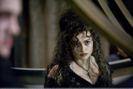 Bellatrix Lestrange. Helena Bonham Carter is awesome as her. I cant get enough of her and Alan Rickman as Snape when they are on screen.