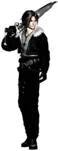 Squall Leonhart from Final Fantasi VIII.