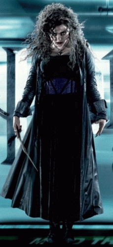 Bellatrix, she kills alot and enjoys it. Bellatrix also plays with her pagkain befroe she eats it. She killed her own cousin.