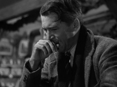 """This scene with Jimmy Stewart in """"It's A Wonderful Life"""" really touches my heart.He played the part so well that i *cried* with him.He prayed so hard to God that his prayers were answered <3"""
