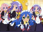 There is only one main character and it's Konata, the leader. While Kagami, Tsukasa, Miyuki are Side Main Characters