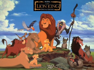 Classic: Lion King Now: idk maybe Enchanted? 或者 Princess and the Frog 或者 Up. there are just so many good ones!!!