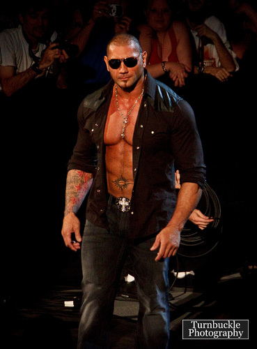 The hottest wrestler to me is Batista.