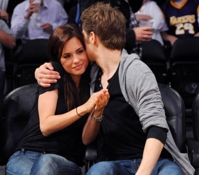 he is dating Torrey DeVitto. foto was taken at the Lakers Game at Staples Center on May 4, 2010...
