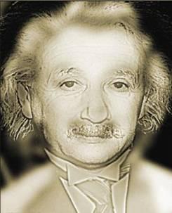 So te see Albert Einstein... Now walk back and keep looking.