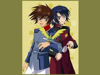 Much! is... The Melancholy Of Haruhi Suzumiya: Kyon,Itsuki Fate Stay Night: Shiro (ehem ehem~_~) and.... Gilgamesh ----> cieh !!!!!! wit wiw! Gundam SEED: Kira and Athrun