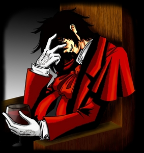 It changes a lot but now it Alucard from Hellsing!