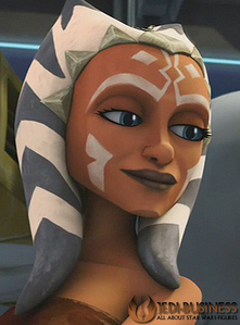 From my fav TV Zeigen star, sterne Wars the Clone Wars and the pic is Ahsoka Tano. She's allot like me, and no I don't have fav star, sterne Wars character I just chose Ahsoka instead of Ahsoka's mentor and his secret wife because that would be two characters. But here's the picture. She's a Torguta. A allein as Du can see, but allot like human in lots of ways. Any questions, ask me the star, sterne Wars nerd.