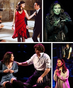 Nope, they are only related through their Broadway fame. Like Lea Michele, Idina Menzel was offered Hollywood gigs after her great success on Broadway, originating iconic roles like Elphaba of Wicked and Maureen Johnson of Rent.
