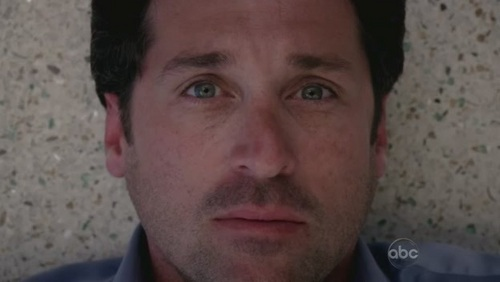 Derek off greys anatomy after he was shot he looked so cute in this shot lol