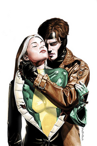 I was confused, thanks for explaining :) My fave couple ever is Rogue & Gambit from the X-Men. I never thought about their children before. I'm sure the son would have his father's eyes :D (which are an evil looking red lol). His name would be Elden (good southern name lol). If they had a daughter, her name would be Marie, probably. That's about all I can come up with on the fly.