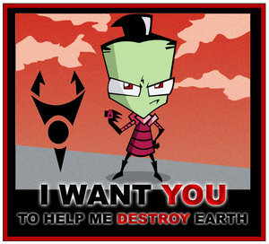 Uncle Zim asking Ты to help him destroy Earth.