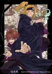 Sasori No Danna (Red headed one) Oh and the blonde one is not a girl. He's male.