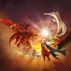 I know it's from आग Emblem: Radiant Dawn. Their continent is in the midst of a war, and the silver-haired girl is trying to protect her country.