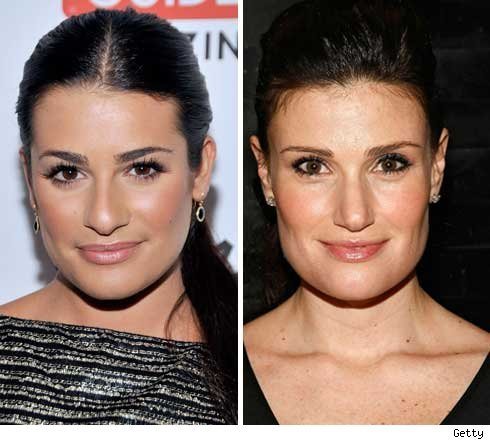 The actress playing Rachel&#39;s mom is Idina Menzel. No, she and Lea Michele are not related. Before Idina was even cast Glee fans saw their resemblance and petitioned for Idina to be cast as Rachel&#39;s mom. Then Idina was cast as Shelby Corcoran (the Vocal Adrenaline coach) the petitioning continued and either Ryan Murphy listened or he thought Idina&#39;s character should be Rachel&#39;s mom too. Her casting was phenomenal! And I agree, their resemblance is amazing. :)