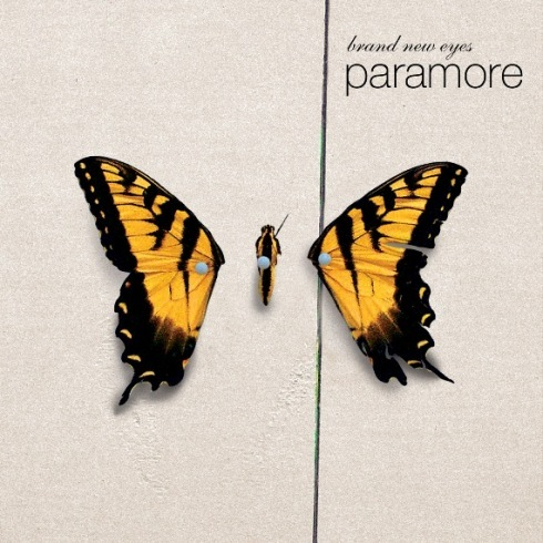 my favorito! band is Paramore, and i pick the album cover Brand New Eyes because i like the mariposa and this album is my favorito! 1