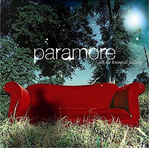 My favorito! band is Paramore, and I'll post a picture of their first album, All We Know Is Falling :)