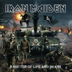 My favorito! band is iron maiden Album: A Matter Of Life And Death and i like the album cause the tank in the background is badass, and so are the human skeletons.