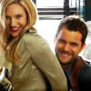 i would have to say Peter & Olivia from Fringe, love them 2! :)