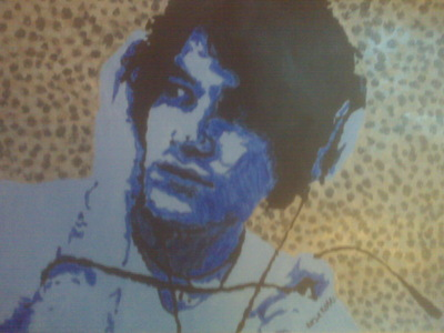 My icon is a pop art picture I painted of Darren Criss