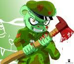 I like both good and bad flippy. i also like flaky,the two racoons, and cuddles.