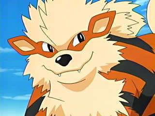 Arcanine from Pokemon. He's my fav. :)