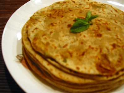 Paratha and the one which is made from brown flour