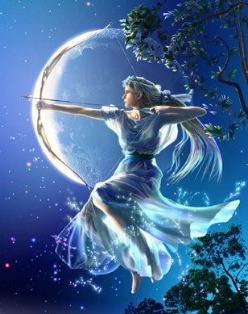 I am the hunteress/daughter of Artemis