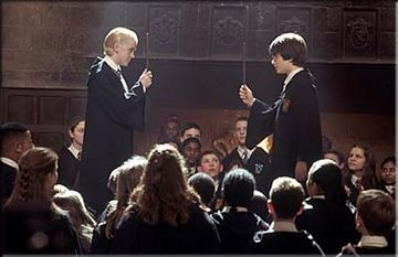 Chamber of Secrets, during the duel. :)