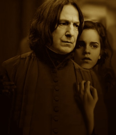 I absolutely Liebe everything Snape/Hermione. I don't know why, but they work for me as a couple. They are both brilliant and powerful with a similar sense of humour, even though Snape's a bit Mehr cruel.