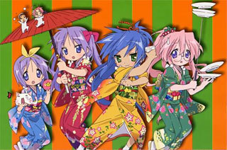 Same with me. I started watching this when I heard so many of Lucky Star. I watched episode 1 and I somehow hate it and thinks it rather plain. But when I'm bored, I watched episode 2,3,4 and so on and I didn't realized I got attached with it so much. I even got 50 pic of Lucky étoile, star in my laptop. Well, what do toi know, toi need to watch the montrer until the end to like it... :P.:D.:|.