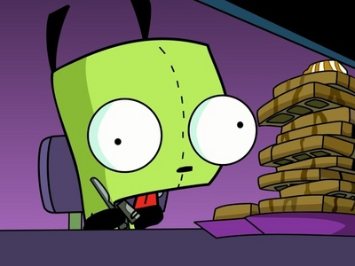 Muzik and Invader Zim, I think i put this for another soalan like this but I dont care, Its true!!!!!!!!!!!!