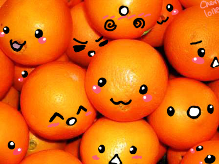 Nothing rhymes with orange. Sorry. All I can think of is door hinge or forage. I leave you with a pic of cute oranges with faces:)